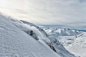 Skier deep and steep in BC