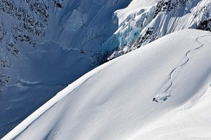 Steep heli-skiing in BC